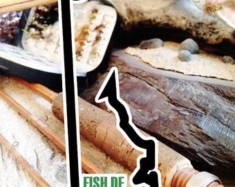 Fish Delaware Sticker - Idahook Series