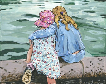 Sisters, signed poster 30 x 20 inch-76 x 51 cm