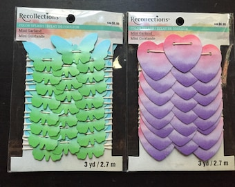 Brand New Recollections color splash banners, garlands, your choice from 2 different color schemes