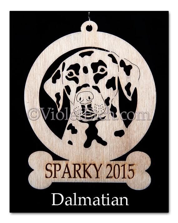 Dalmatian Ornament-Dalmatian Gift-Free Personalization