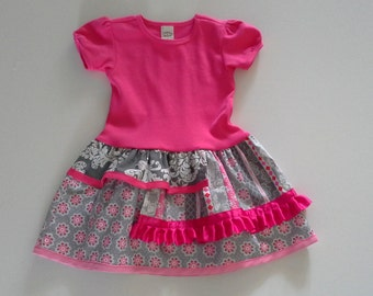 T-shirt Dress, Girls Dresses, Toddler Dresses, Size 3T