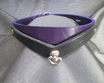 BDSM Purple Prince, British Bridal Full Grain Leather Collar