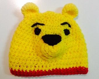 Winnie the Pooh Crocheted Hat
