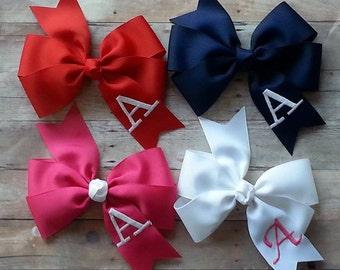 Pin wheel hair bows, Embroidered hair bows, hair bows, Baby bows, Girls hair bows