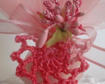 Rose Crochet Lace Favor/favor with crochet lace
