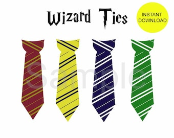 Have you seen this wizard poster instant download for Harry potter tie template