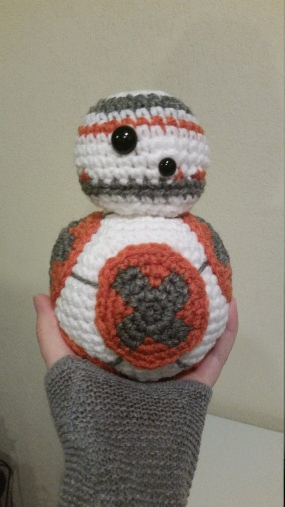 Free Star Wars Bb 8 Crochet Pattern : BB8 Star Wars Inspired Droid Crochet Doll by ...