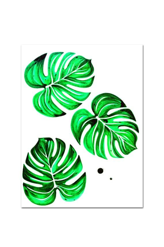 Tropical Leaves Wall Decor : Tropical leaves ii wall decor fine art giclee by kasamonart