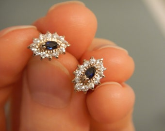 Genuine Sapphire Earrings, Antique
