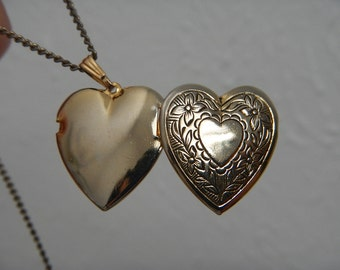 Vintage Locket Heart Shape Pendant on a Chain