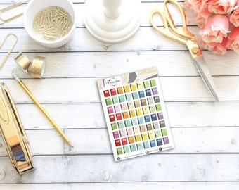 MINI Planning Time Stickers || 64 Planner Stickers