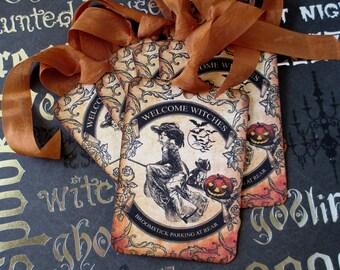 Halloween, Halloween Tags, Tags, Gift Tags, Vintage Halloween, Vintage Tags, Halloween Labels, Witch Tags
