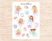 Fairy Decorative (matte planner sticker, Erin Condren, Happy Planner, Filofax, Kikki K)