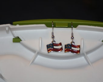 U.S. Flag Earrings