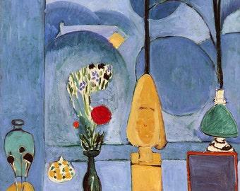Henri Matisse, Blue Fine Art Reproduction, Modern Abstract Wall Art Print,  Home Decor