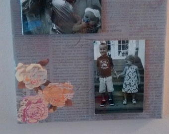 Canvas photo art- insert your favorite 4 by 6 photos