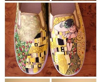 Vans Shoes with original painting by Klimt! Handpainted shoes