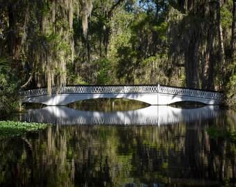 Bridge photography, reflection art, landscape photo