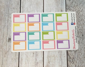 Lined Half Boxes in Pastels- Made to fit Vertical or Horizontal Layout