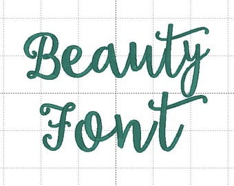 Beauty Font, BX Format Included, Script Font,Th Complete Alphabet Upper and Lower Case, 10 formats included!! 3 sizes!!
