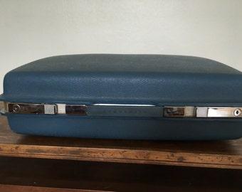 Vintage Blue Samsonite Saturn Suitcase