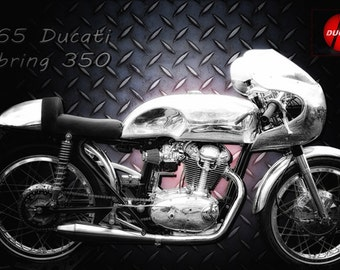 Ducati 1965 Sebring 350 Version 1, Metal Prints, Motorcycle Prints, Motorcycle Art, Wall Art, Photography, Prints, Gifts for Him, Home Décor