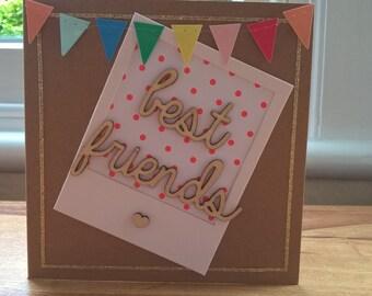 Best Friends polaroid card