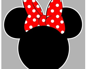Minnie and Mickey Mouse Outline - svg file