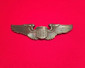 WW2 U.S Army Pilot Wings/Pinback/Sterling Marked