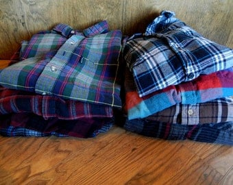Oversized Distressed Flannel