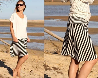 GINA jersey skirt pattern, sizes 158–46 (Kids M-women XL) / Instant Download