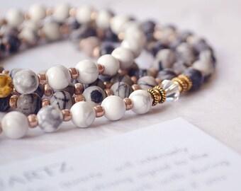 Crystal Mala Beads 108 - Mala Beads - Mala Necklace - Mala Prayer Beads - Yoga Gift - Meditation Beads - Mala Beads - Mala Bead Necklace