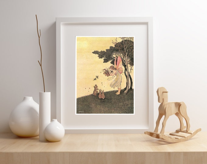 ART FOR KIDS, Fairy Tales From Around the World Print, Framed Wall Art, Baby Art, Children's Art, Ready to Hang, Free Shipping