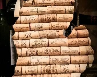 Michigan - Wine Cork art - State of Wine
