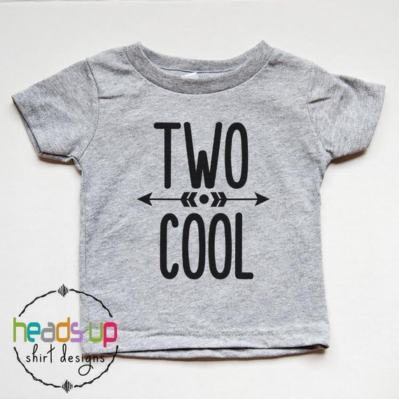 Two Cool Birthday Shirt 2nd Birthday Shirt Toddler Boy/Girl