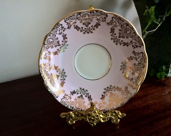 Regency Pink and Gold Saucer