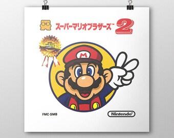 Super Mario Bros 2 Famicom Box print