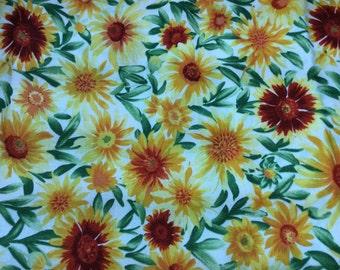 Wild flowers by Rick Vanderpool for Moda fabrics. Yellow and orange wild flowers