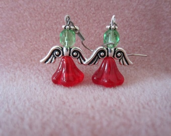 Christmas Angel droplet earrings