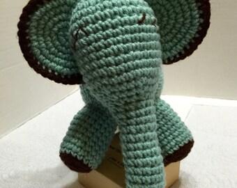 Crocheted Elephant, Amigurumi Elephant, Stuffed Elephant, Nursery Decor