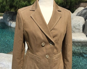 Tan Jacket-Blazer// Size 8 Medium// Down Front//Form Fitted