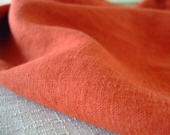 Washed Linen - Burnt Orange