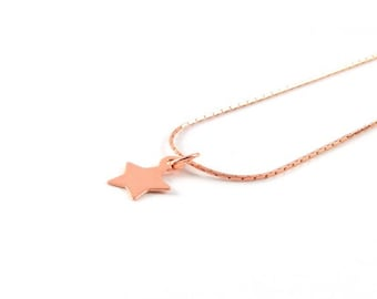 Star I delicate necklace I Rosé gold
