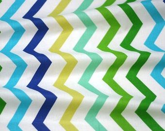Chevron cool colors cotton fabric 0,5m