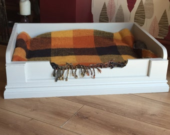 solid pine dog bed
