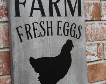 Farm Fresh Eggs Sign, Primitive Farm Sign, Fresh Eggs For Sale Sign, Kitchen Sign, Eggs For Sale Sign, 11.25 X 15 Sign