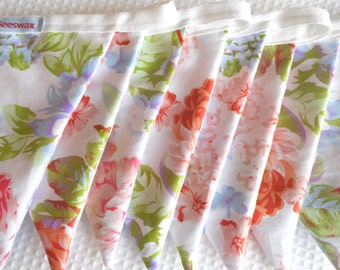 Cabbage Rose Floral Bunting