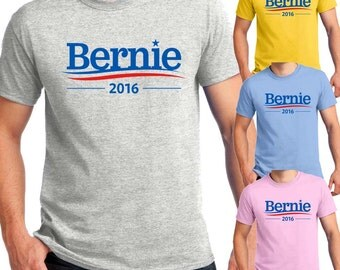 Bernie Sanders 2016 Presidential Campaign Vote for Sanders Unisex Men's T-shirts and Ladies Slim-Fit T-shirts