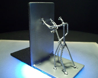Getting nailed bookend, nailing it bookend, nail art nail sculpture figurines, custom bookend