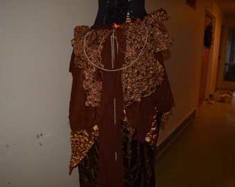 Steampunk inspired Bustle